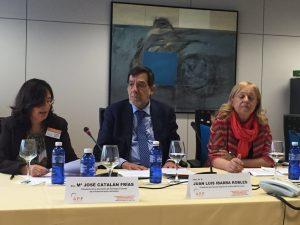 Mª José Catalán, presidenta de la APF inaugurando la Convención.