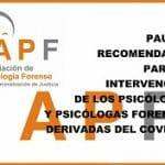 Pautas para las Evaluaciones Psicológico-Forenses en la Covid-19